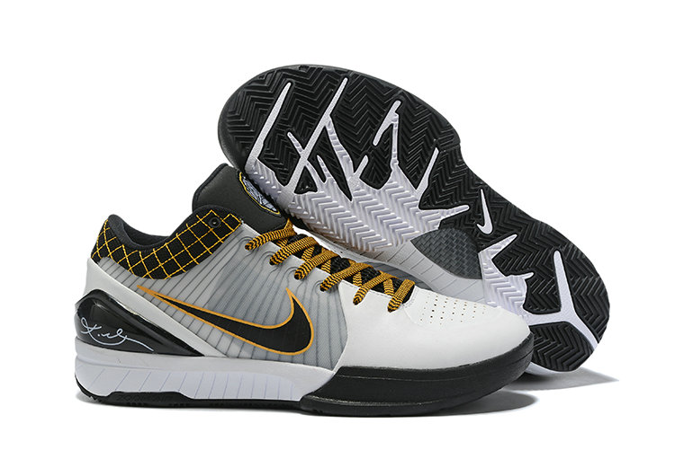 Where To Buy Cheap Nike Zoom Kobe 4 Protro Del Sol White Black-Del Sol