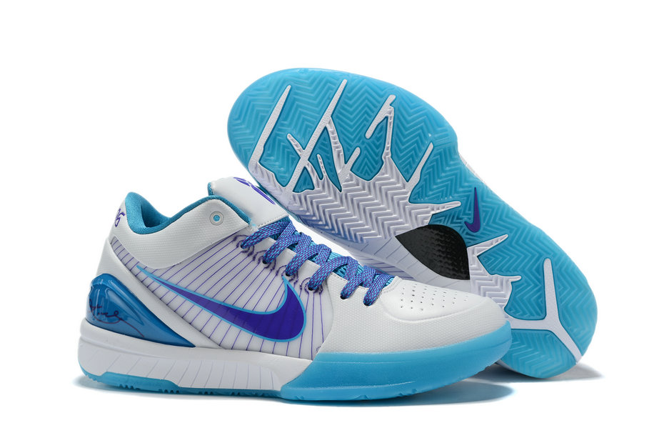 Where To Buy Cheap Nike Zoom Kobe 4 Protro Draft Day White Orion Blue-Varsity Purple AV6339-100