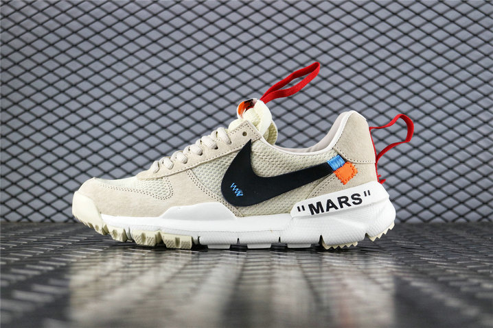 Where To Buy Cheap OFF White x Tom Sachs x NikeCraft Mars Yard 2.0 Cream Black White AA2261-100