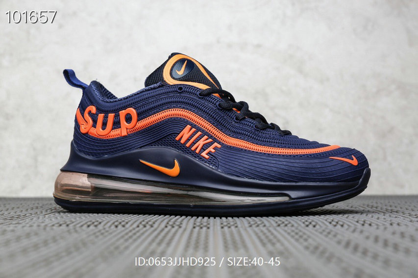 Where To Buy Cheap Supreme x Nike Air Max 97 Orange Royal Blue