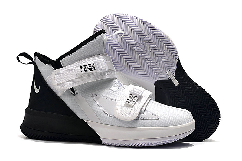 Where To Buy Kids Nike Lebrons Soldier 13 White Black