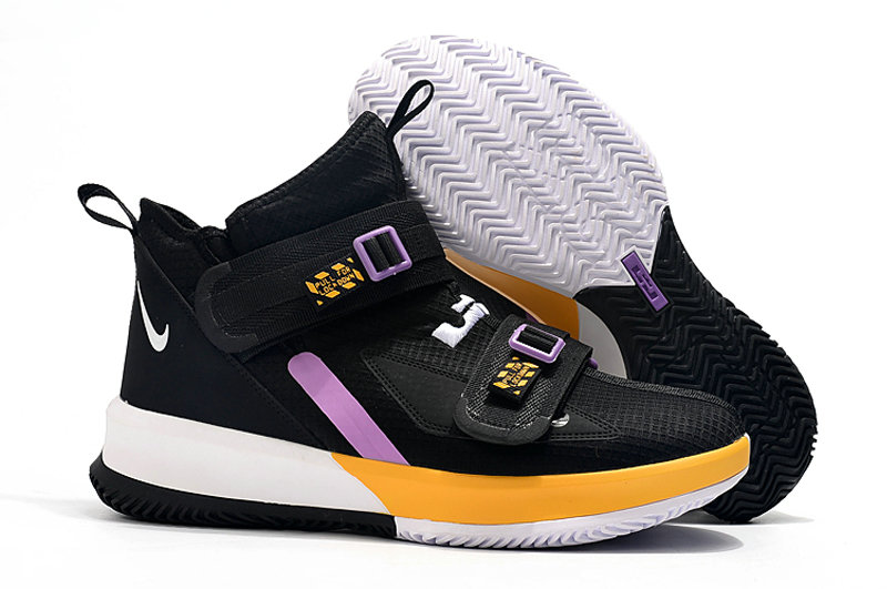 Where To Buy Kids Nike Lebrons Soldier 13 Yellow Black White Light Purple