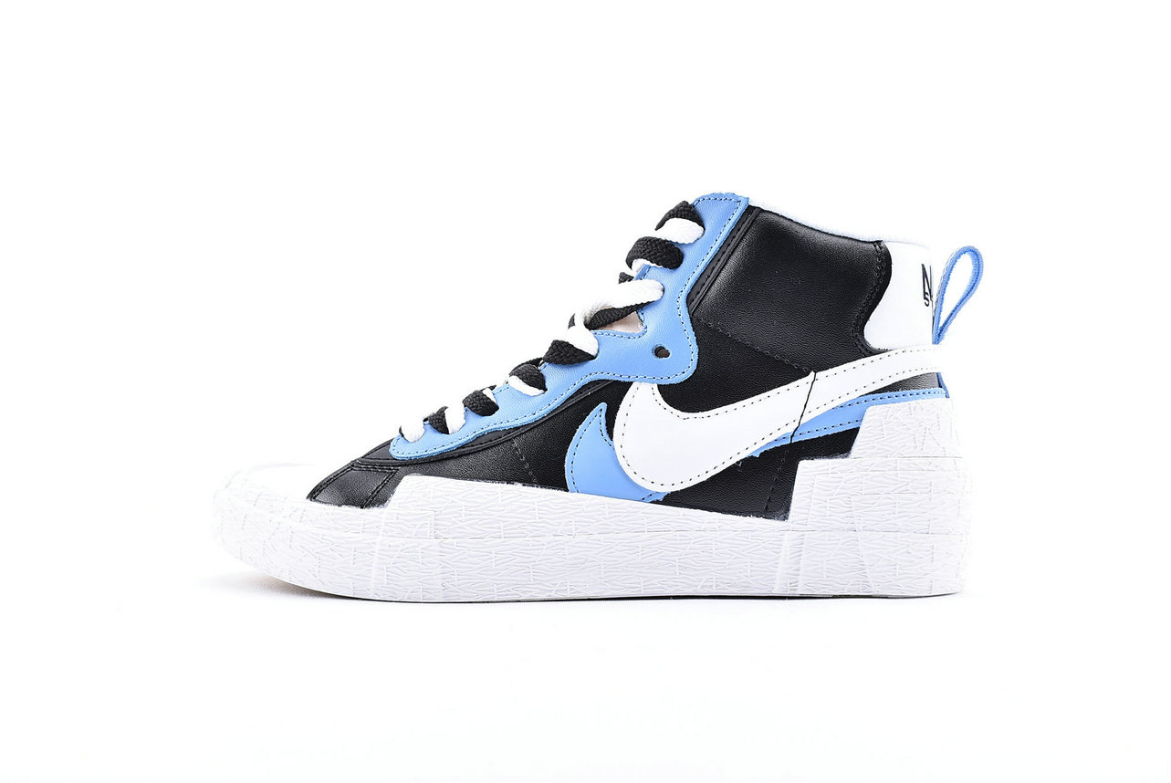 Where To Buy Sacai x Nike Blazer Mid White Black-Legend Blue BV0072-001