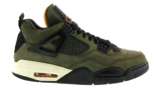 Where To Buy Womens 2020 Cheap Nike Air Jordan 4 UNDFTD Olive-Oiled Suede-Flight Satin Undftd JBM351 M1