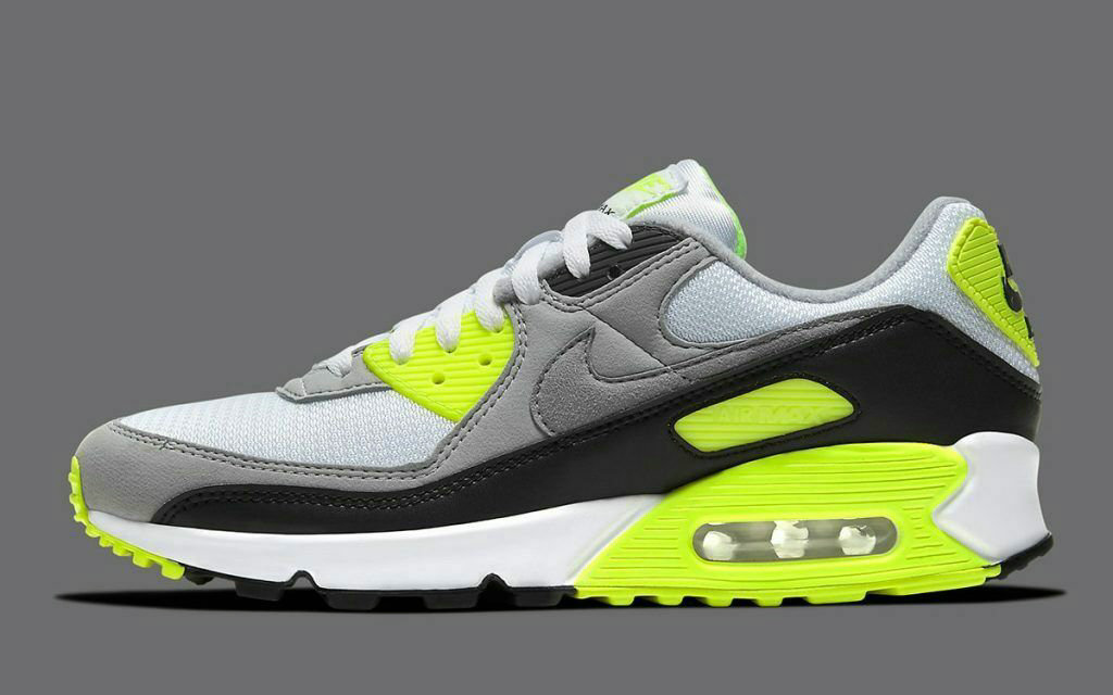 Where To Buy Womens 2020 Cheap Nike Air Max 90 White Light Smoke Grey-Black-Particle Grey CW5458-100