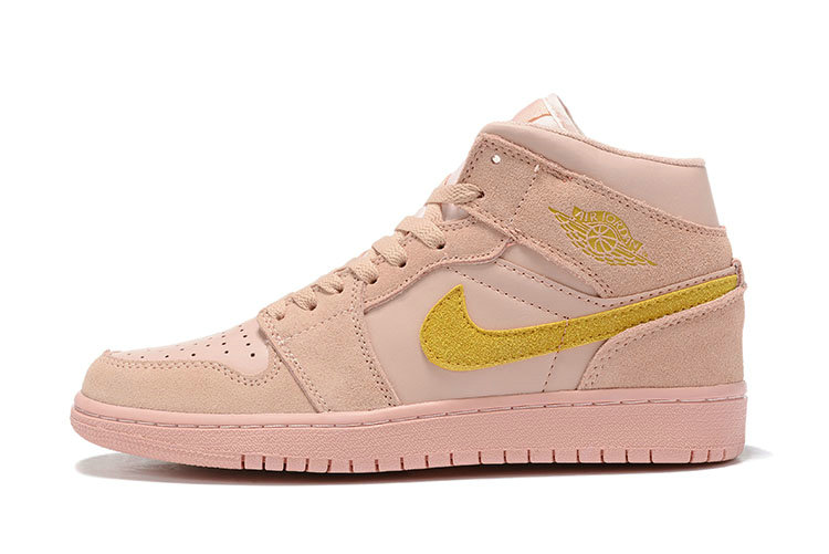 Where To Buy Womens Nike Air Jordans 1 High Premium Coral Stardust Club Gold-Coral Stardust BQ6931-600