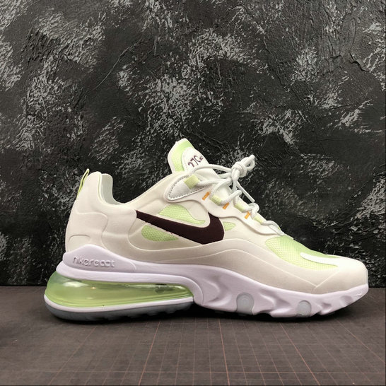 Where To Buy Womens Nike Air Max 270 React Beige Fluorescent Green Vert AQ9087-108