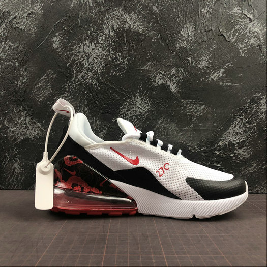 Where To Buy Womens Nike Air Max 270 White Black Red Blanc Noir Red AR0499-106