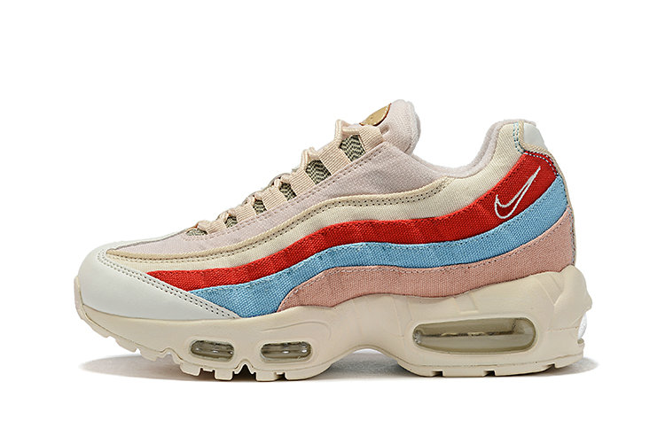 Where To Buy Womens Nike Air Max 95 Beige Coral-Blue-Tan-White CD7142-800