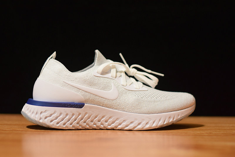Where To Buy Womens Nike Epic React Flyknit White Blue AQ0067-100
