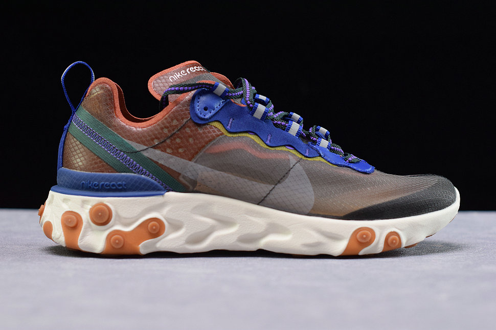 Where To Buy Womens Nike React Element 87 Dusty Peach Atmosphere Grey Peche Poussiereux AQ1090-200