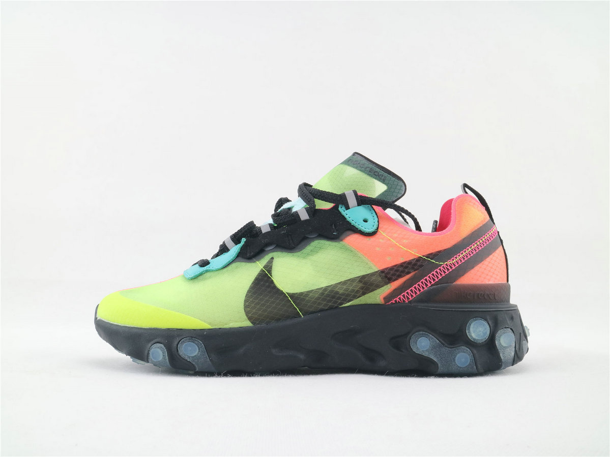 Where To Buy Womens Nike React Element 87 Hyper Fusion Volt Racer Pink-Black-Aurora AQ1090 700