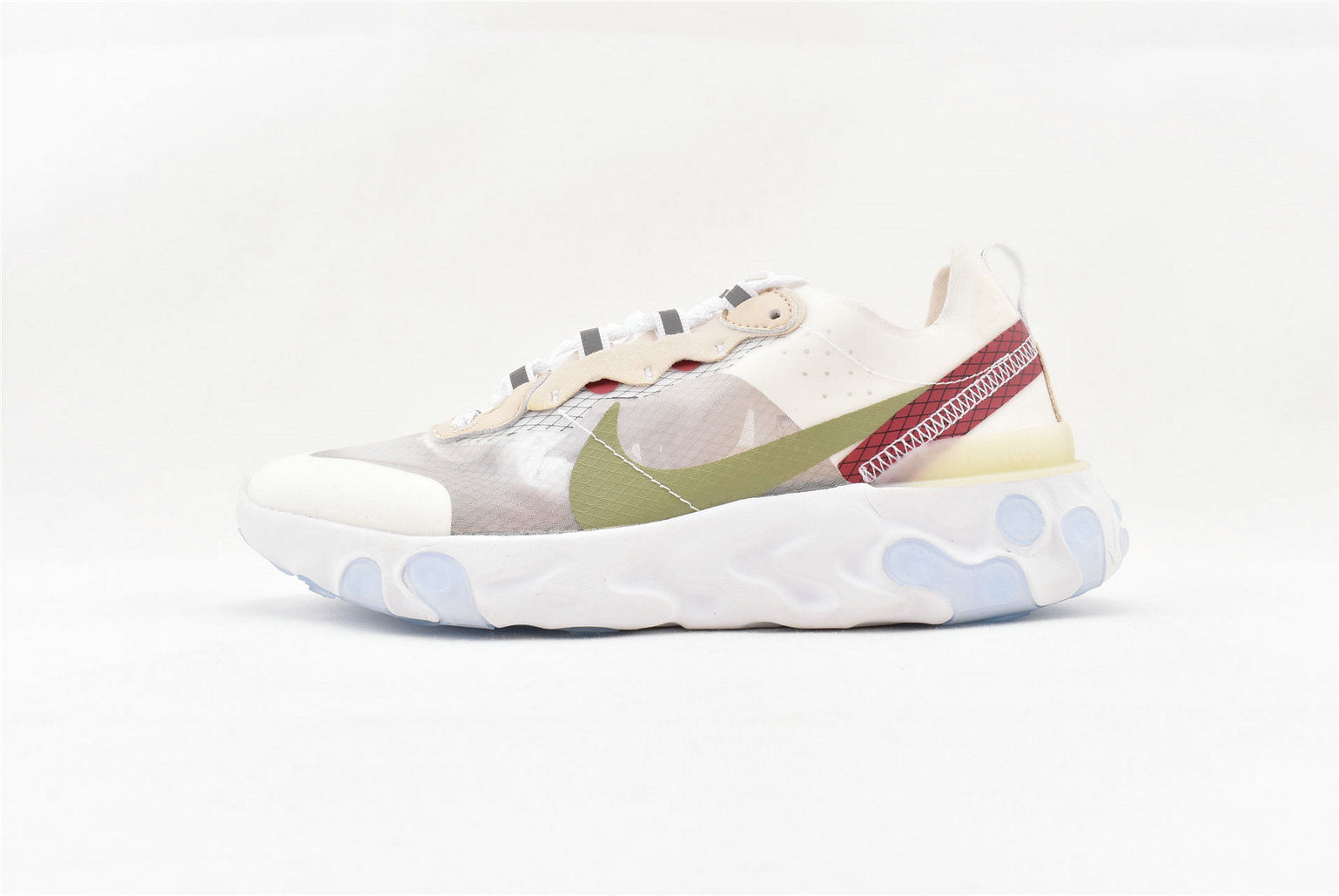 Where To Buy Womens Nike React Element 87 Undercover Sail Light Bone-White AQ1090 100
