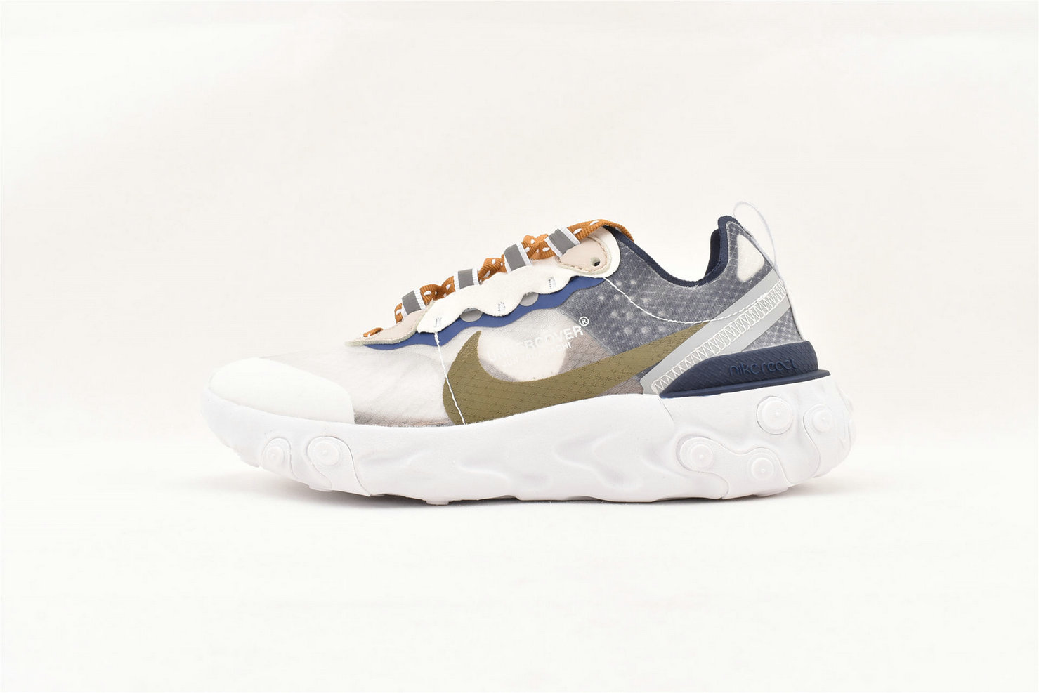 Where To Buy Womens Nike React Element 87 White Blue Brown Wheat 81265-011
