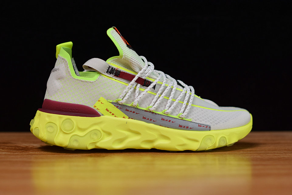Where To Buy Womens Nike React WR ISPA Pure Platinum Team Red-Volt Glow CT2692-002