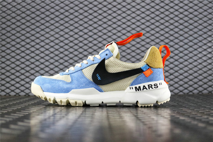 Where To Buy Womens Off White x Tom Sachs x Nike Craft Mars Yard 2.0 Work Blue Cream Black AA2261 118