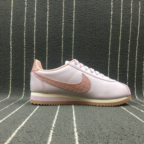 Womens 2019 Cheap NIKE CLASSIC CORTEZ LEATHER LUX BLACK WHITE NOIR BLANC 861660-660
