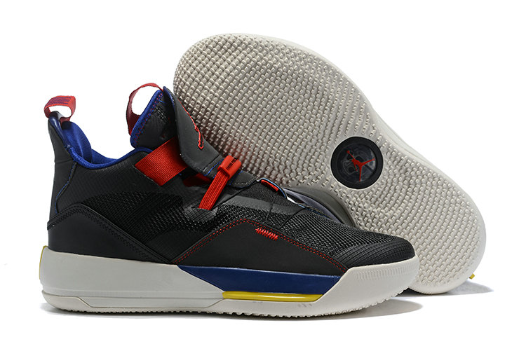 Womens 2019 Cheap Nike Air Jordan 33 Black Red Yellow Blue White