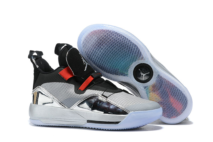 Womens 2019 Cheap Nike Air Jordan 33 Metallic Silver Red Black