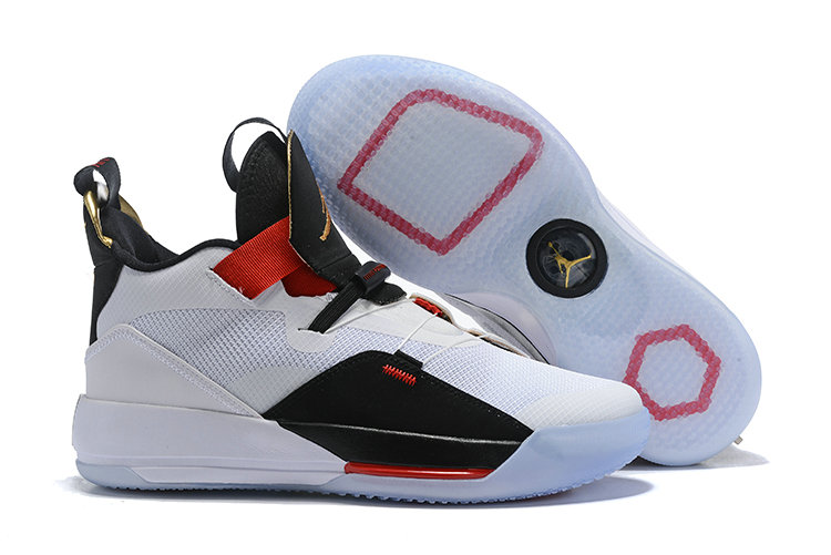 Womens 2019 Cheap Nike Air Jordan 33 White Red Black