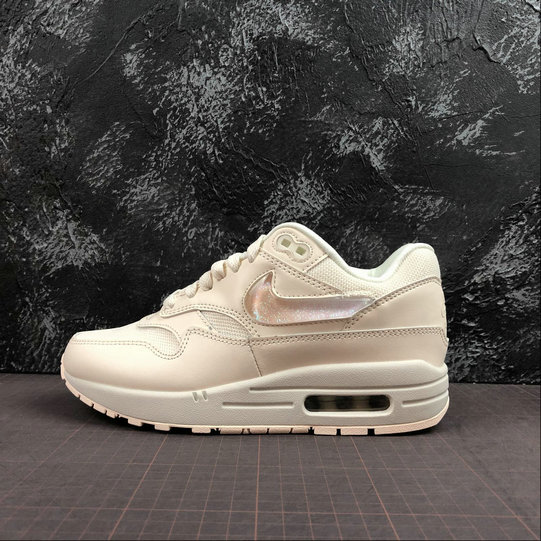 Womens 2019 Cheap Nike Air Max 1 Gets Oversized Jewel Swoosh Logos And Tongue Labels