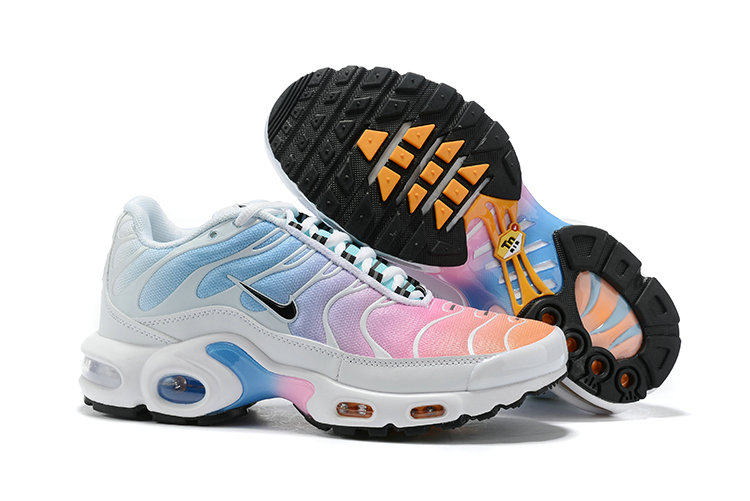 Womens 2019 Cheap Nike Air Max Plus Pink Blue White Black