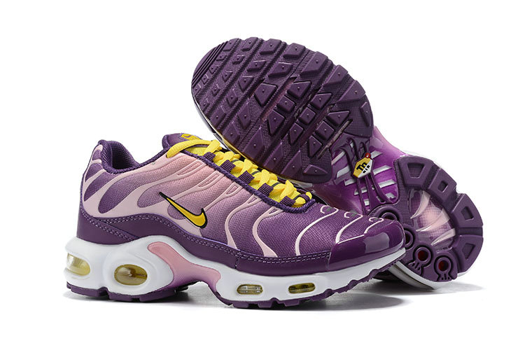 Womens 2019 Cheap Nike Air Max Plus Yellow Purple Pink White
