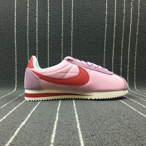 Womens 2019 Cheap Nike Classic Cortez Nylon Premium Perfect Pink Sport Red 882258-601 Rose