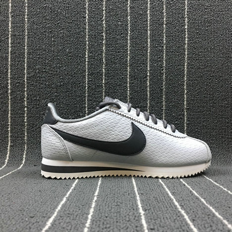 Womens 2019 Cheap Nike Cortez SE Shoe Metallic Pewter Summit White Deep Pewter 902856-006