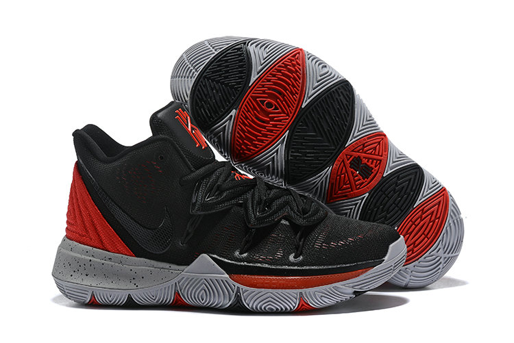 Womens 2019 Cheap Nike Kyrie 5 University Red Black