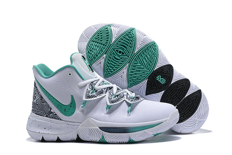 Womens 2019 Cheap Nike Kyrie 5 Unveiled PE White Mint Green-Black