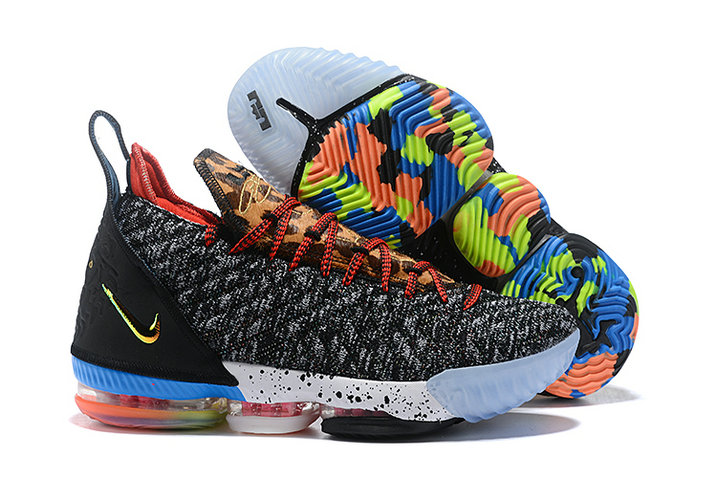 Womens 2019 Cheap Nike LeBron 16 1 Thru 5 Multi-Color-Multi-Color BQ6580-900