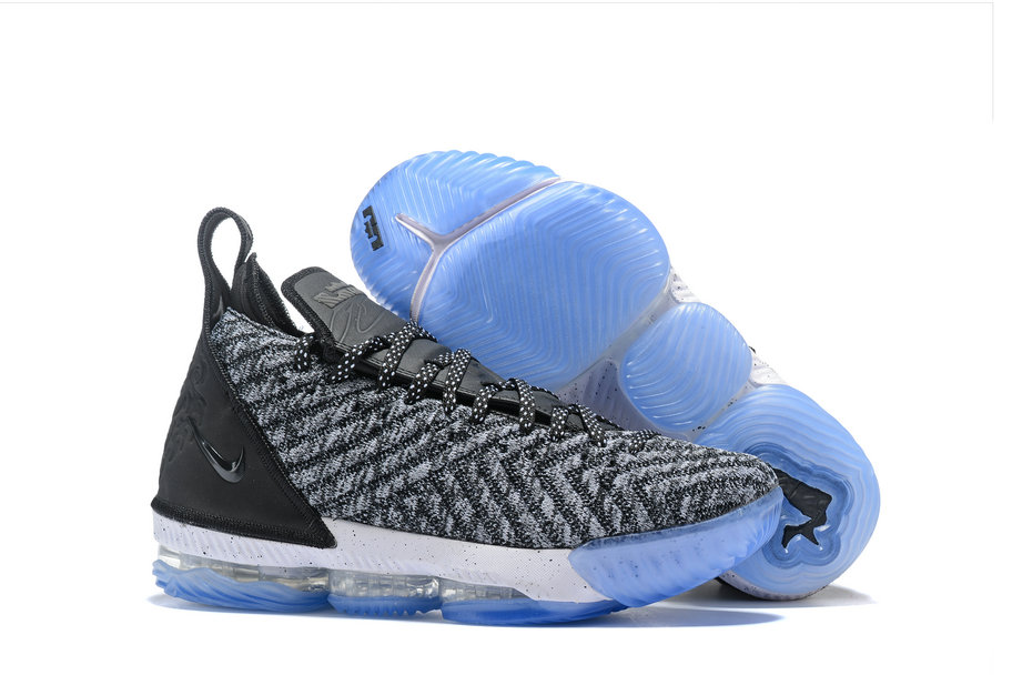 Womens 2019 Cheap Nike LeBron 16 Oreo Black Metallic Silver-White AO2588-006