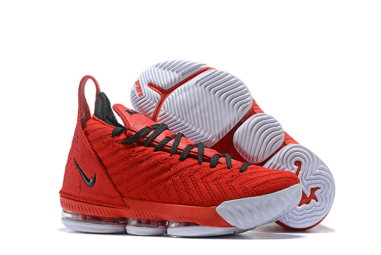 Womens 2019 Cheap Nike Lebron 16 Basketball Shoe Mens Red Black White