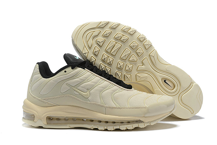 Womens Cheap Nike Air Max Tn x Air Max 97 Womens Cream Black