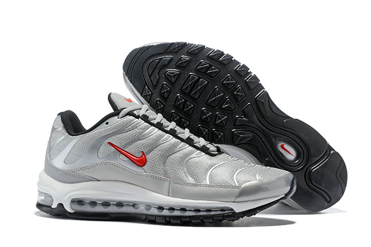 Womens Cheap Nike Air Max Tn x Air Max 97 Womens Silver Grey Red White Black