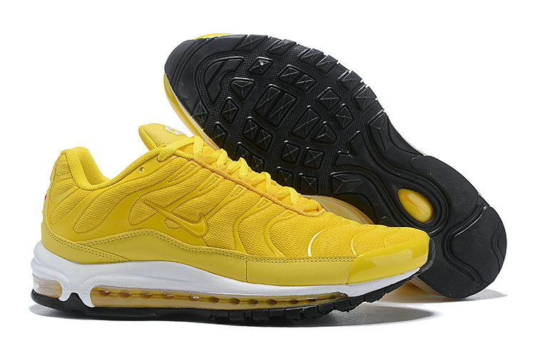 Womens Cheap Nike Air Max Tn x Air Max 97 Womens Yellow White Black
