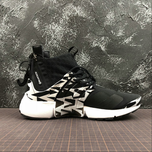 Cheap Womens Nike Air Presto Mid ACRONYM AH7832-003 White Grey Black