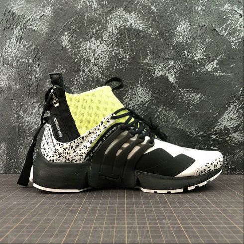 Cheap Womens Nike Air Presto Mid ACRONYM AH7832-600 Fluorescent Green White Black