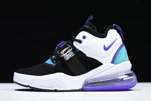 Cheap Womens Nike Air Force 270 Carnivore Black Court Purple-Dark Atomic Teal AH6772-005
