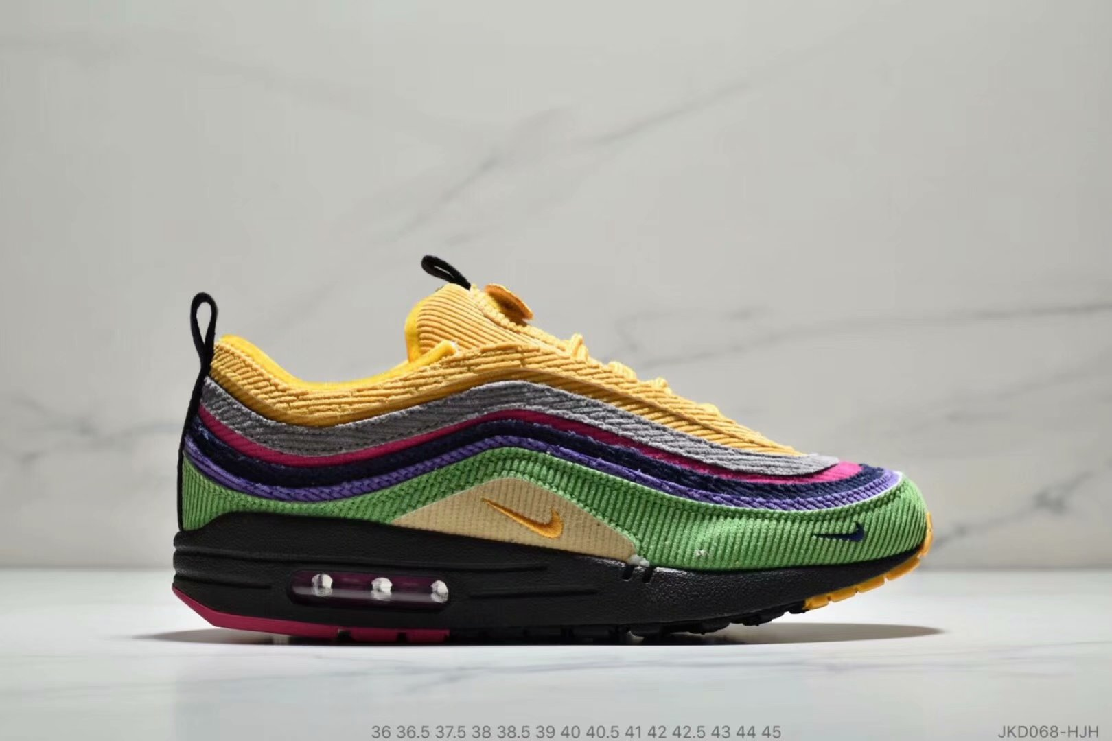Womens Nike Air Max 87 1 Sean Wotherspoon Grass Green Yellow Grey Purple Black