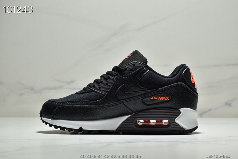 Womens Nike Air Max 90 Black-Habanero Red-Black CD1526-001