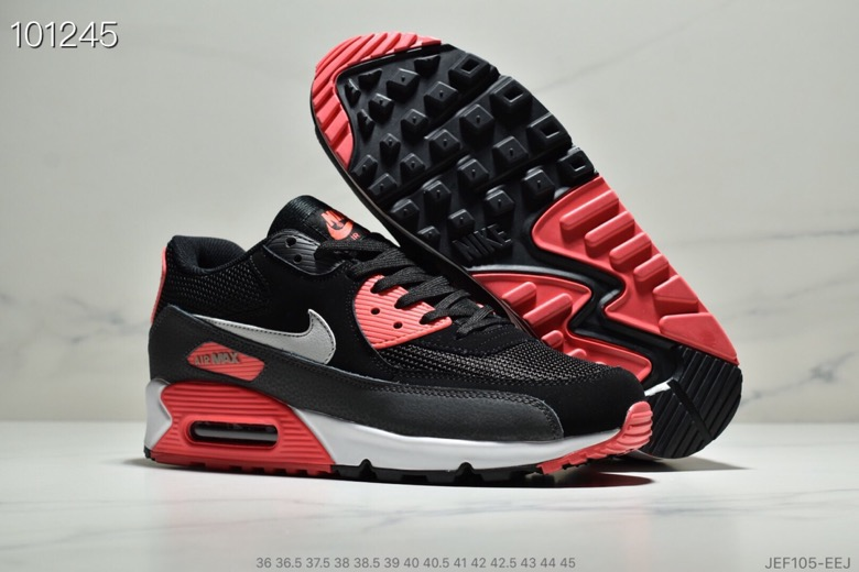 Womens Nike Air Max 90 Black Infrared AJ1285-012