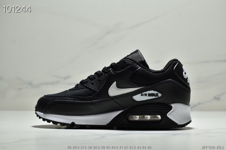 Womens Nike Air Max 90 Essential Black Mint Candy-Dark Grey 537384-030