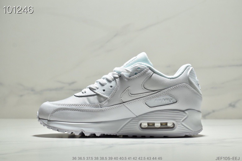 Womens Nike Air Max 90 Essential White-White 537384-111