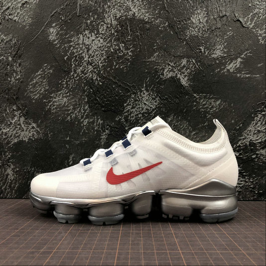 Cheap Womens Nike Air VaporMax 2019 AR6632-006 White Red Blanc Rouge