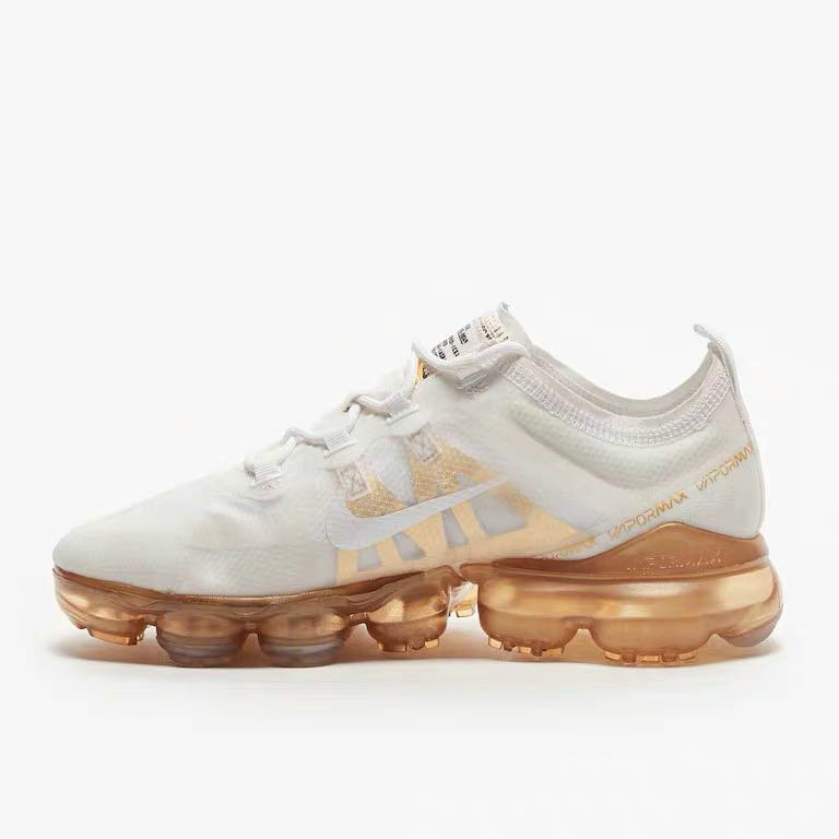 Womens Nike Air VaporMax 2019 Premium White White-Metallic Gold AR6632-101