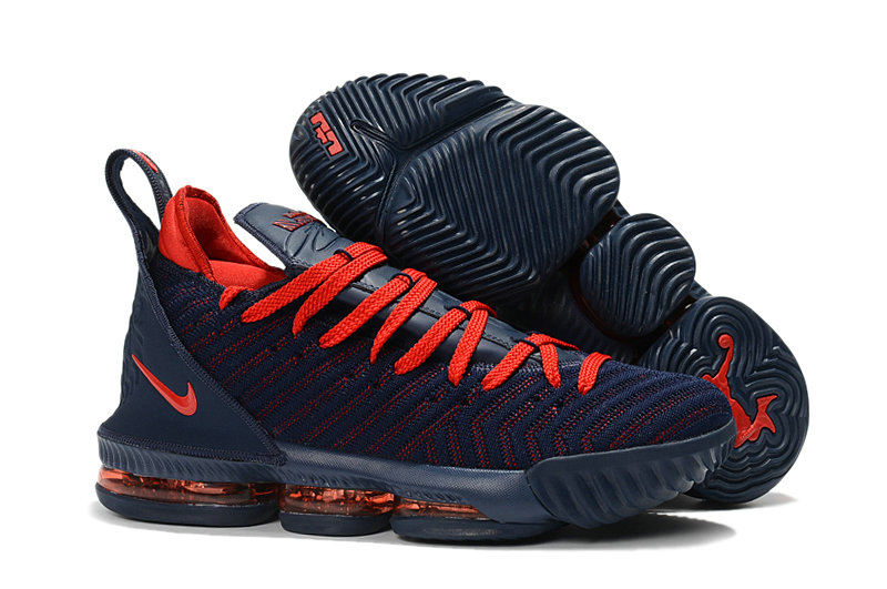 Womens Nike Lebrons 16 Cheap Red Navy Blue