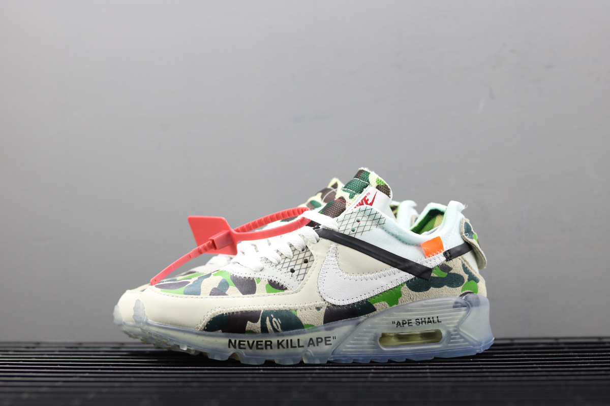 Womens Off-White x Nike Air Max 90 Custom Ice Camo