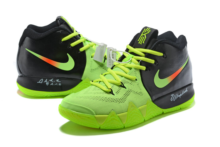 2018 Nike Kyrie Shoes x Cheap Nike Kyrie 4 PE Neon Green Black Orange